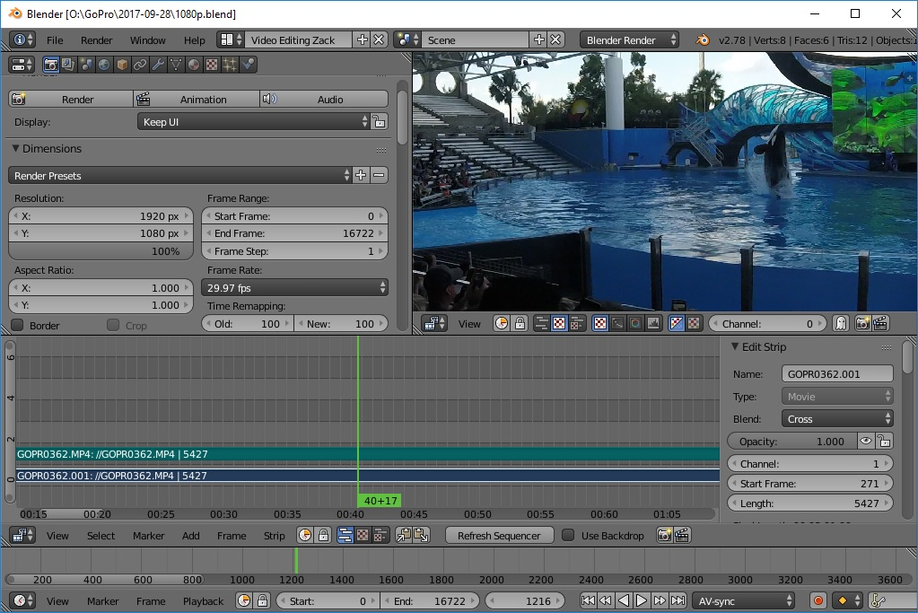 Video editing in Blender