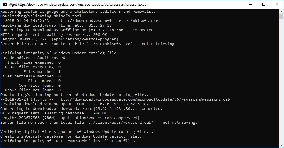 WSUS Offline Downloading