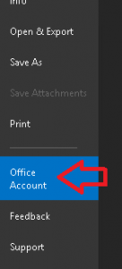 Outlook Account Button