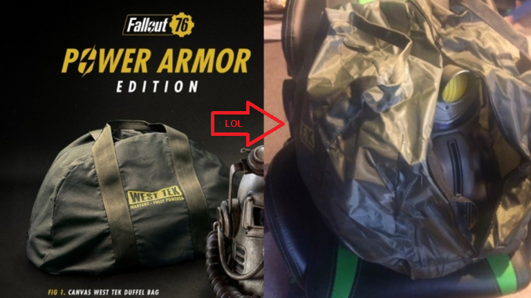 Fallout 76 Preorder Trash Bag