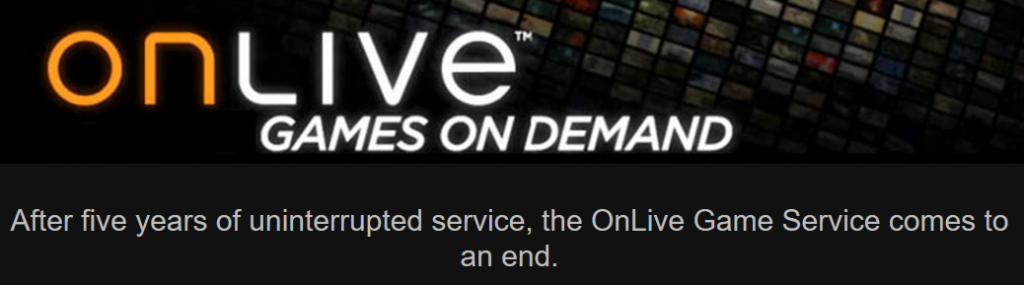 OnLive Cloud Gaming Service