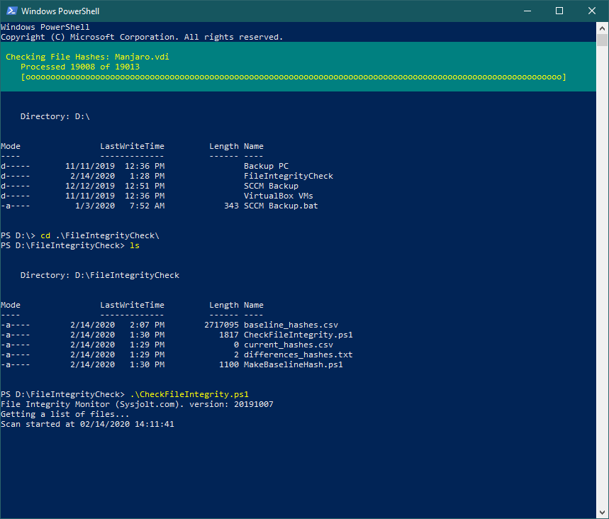 Checking File Integrity With PowerShell