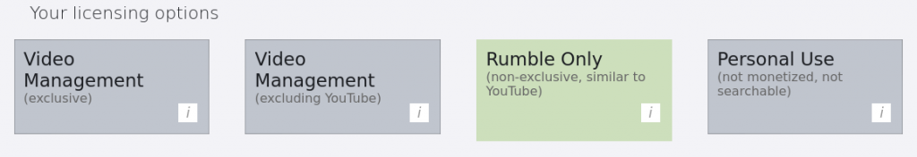 Rumble Licensing Options