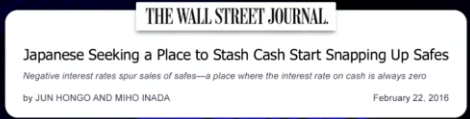 Japanese Seeking a Place to Stash Cash Start Snapping Up Safes