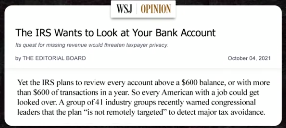 The IRS Wants to Look at Your Bank Account